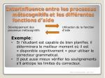 interinfluence entre les processus m tacognitifs et les diff rentes fonctions d aide1