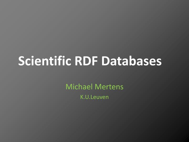 scientific rdf databases n.