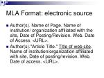 mla format electronic source1