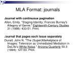 mla format journals1