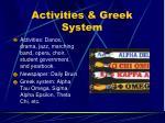 activities greek system