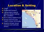location setting