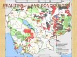 realities land concessions