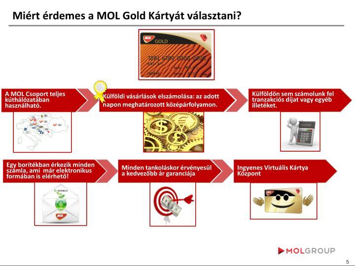 Miért érdemes a MOL Gold Kártyát választani?