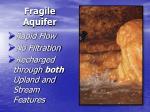 fragile aquifer