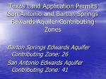 texas land application permits san antonio and barton springs edwards aquifer contributing zones