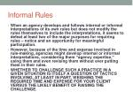 informal rules