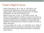 public s right to know
