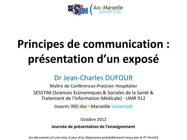 principes de communication pr sentation d un expos n.