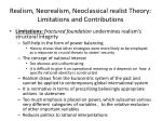 realism neorealism neoclassical realist theory limitations and contributions