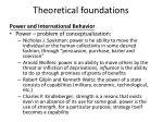 theoretical foundations6