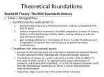theoretical foundations9
