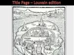 title page louvain edition