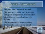 rainfall convectional