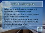 rainfall orographic