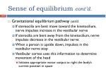 sense of equilibrium cont d