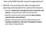 how could dwf benefit research organizations2