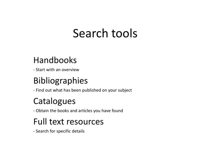 search tools n.