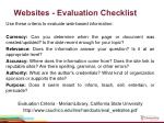 websites evaluation checklist