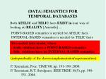 data semantics for temporal databases