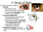 ii sense of sight