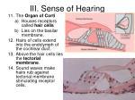 iii sense of hearing5
