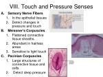 viii touch and pressure senses