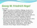 georg w friedrich hegel