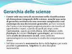 gerarchia delle scienze