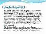 i giochi linguistici