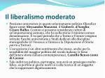il liberalismo moderato