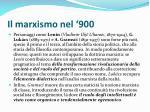 il marxismo nel 900