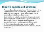 il patto sociale e il sovrano