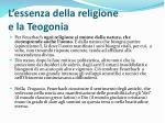 l essenza della religione e la teogonia