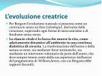 l evoluzione creatrice