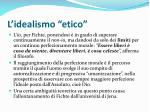 l idealismo etico