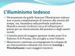l illuminismo tedesco