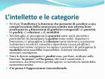 l intelletto e le categorie