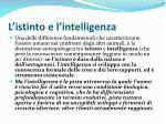 l istinto e l intelligenza