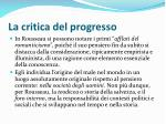 la critica del progresso