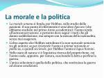 la morale e la politica