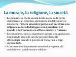 la morale la religione la societ