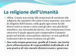 la religione dell umanit