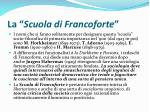 la scuola di francoforte