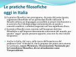 le pratiche filosofiche oggi in italia
