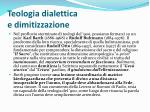 teologia dialettica e dimitizzazione
