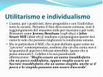 utilitarismo e individualismo