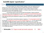 eucard dipole specification