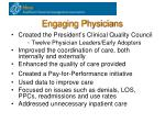 engaging physicians