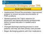 successful strategies under tpr3